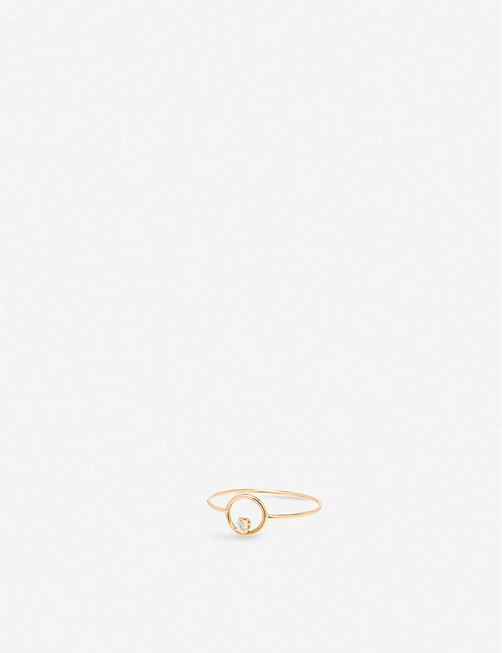THE ALKEMISTRY: Zoë Chicco 14ct yellow-gold and diamond circle small ring
