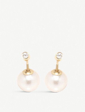 THE ALKEMISTRY Zoë Chicco 14ct yellow-gold pearl and diamond earrings
