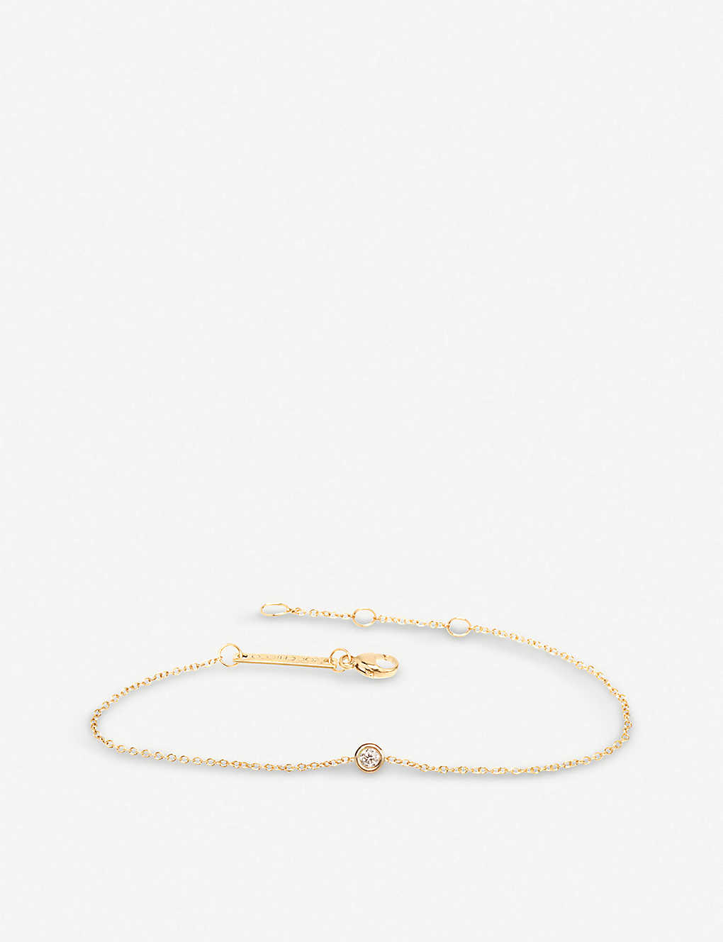 THE ALKEMISTRY: Zoë Chicco 14ct yellow-gold and diamond chain bracelet