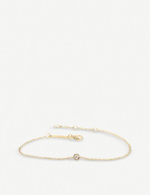 691abdb47ac THE ALKEMISTRY Zoë Chicco 14ct yellow-gold and diamond chain bracelet