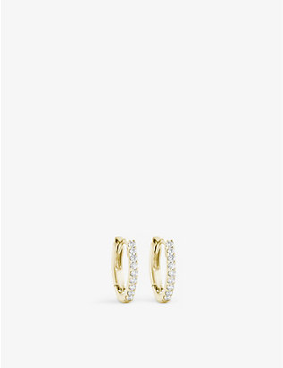 THE ALKEMISTRY: Dana Rebecca 14ct yellow gold and diamond earrings