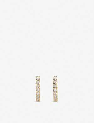 THE ALKEMISTRY The Alkemistry x Dana Rebecca Huggie 14ct gold and diamond earrings