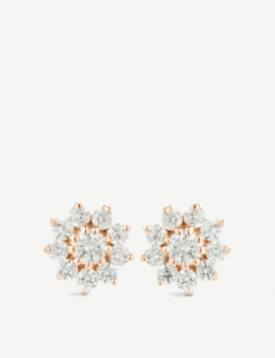 THE ALKEMISTRY Dana Rebecca Starburst 14ct rose-gold and diamond stud earrings