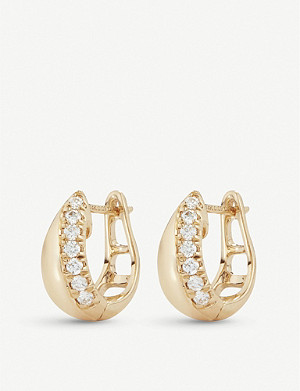 THE ALKEMISTRY Dana Rose Cynthia Rose yellow gold diamond earrings