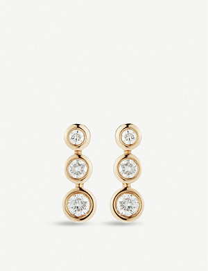 THE ALKEMISTRY Dana Rebecca Lulu Jack yellow gold diamond drop earrings