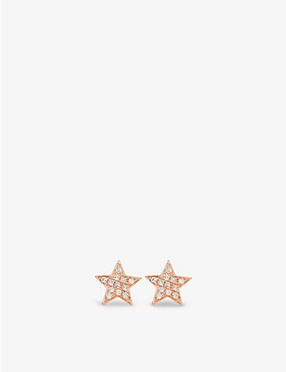 THE ALKEMISTRY: Dana Rebecca Julianna Himiko 14ct rose-gold and diamond earrings