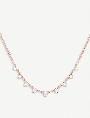 THE ALKEMISTRY The Alkemistry x Carbon and Hyde 14ct rose-gold and diamond Mini Star necklace