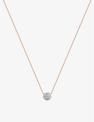 THE ALKEMISTRY: Dana Rebecca Lauren Joy mini 14ct rose-gold and diamond necklace