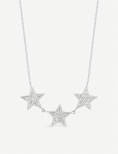 cda748e7d5e THE ALKEMISTRY Dana Rebecca Triple Star 14ct white-gold and diamond necklace