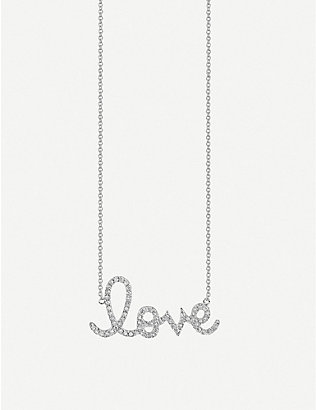 THE ALKEMISTRY: Sydney Evan Love 14ct white gold and crystal necklace