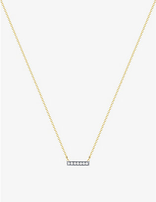 THE ALKEMISTRY: Dana Rebecca 14ct yellow-gold and diamond necklace