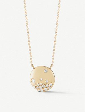 THE ALKEMISTRY Dana Rebecca Cynthia Rose yellow gold diamond necklace