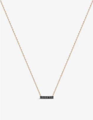 THE ALKEMISTRY: Dana Rebecca 14ct rose-gold and black diamond necklace
