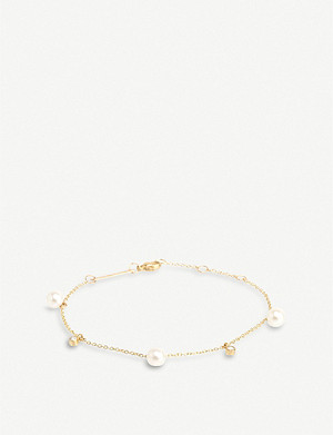 THE ALKEMISTRY Zo? Chicco 14ct yellow-gold, freshwater pearl and diamond bracelet