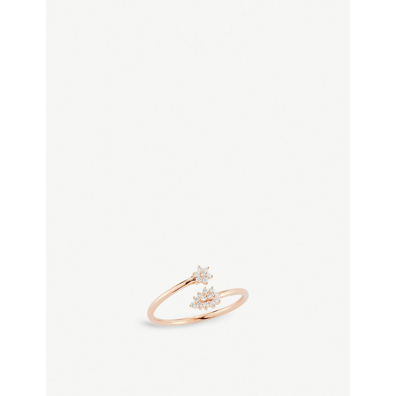 THE ALKEMISTRY   Dana Rebecca 14ct Rose-Gold And Diamond Star And Pear Ring   Goxip