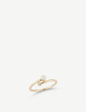 THE ALKEMISTRY Dana Rebecca Pearl Ivy 14ct yellow-gold, pearl and diamond ring