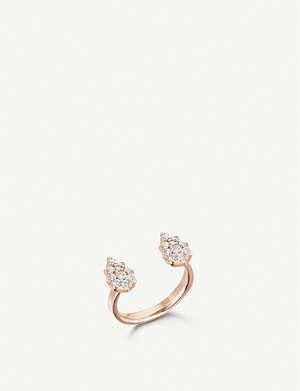 THE ALKEMISTRY The Alkemistry x Carbon and Hyde Stella Pear 14ct rose-gold and diamond open ring