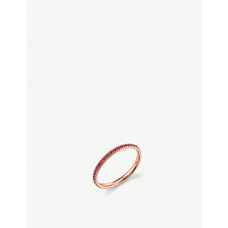 THE ALKEMISTRY   Sydney Evan 14ct Rose Gold And Ruby Eternity Ring   Goxip
