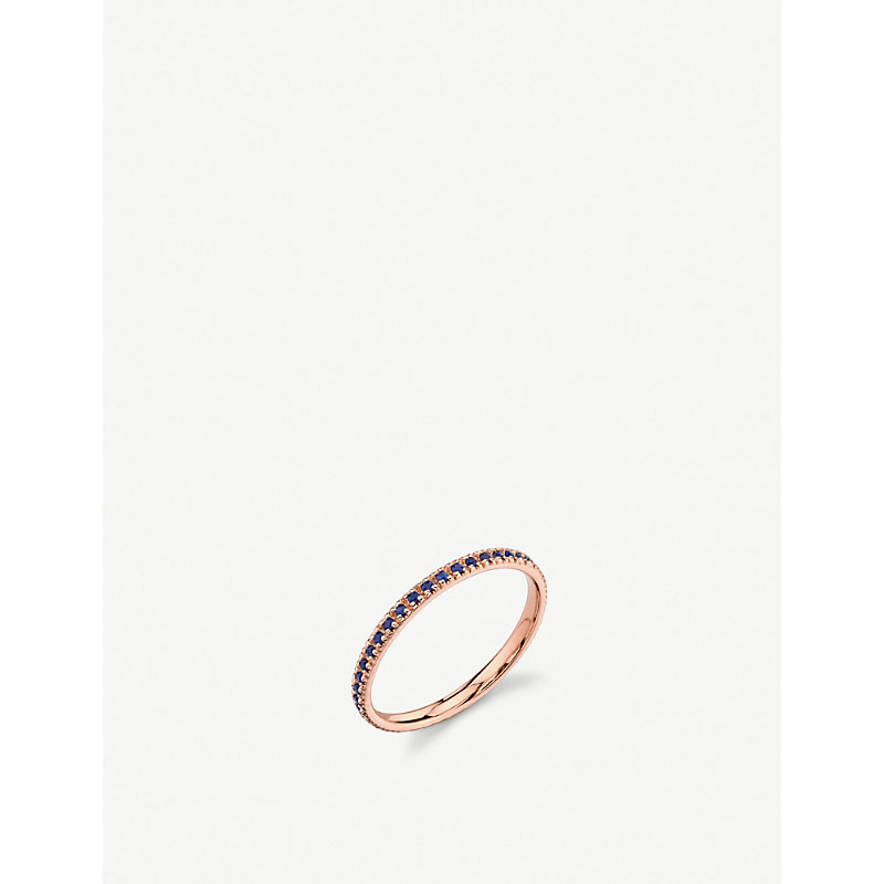 THE ALKEMISTRY   Sydney Evan 14ct Rose Gold And Sapphire Eternity Ring   Goxip