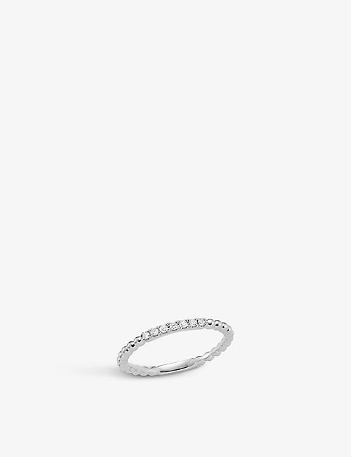 THE ALKEMISTRY Dana Rebecca diamond band 14ct white-gold ring