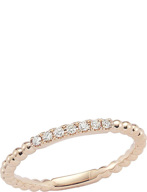 THE ALKEMISTRY Dana Rebecca diamond band 14ct rose-gold ring