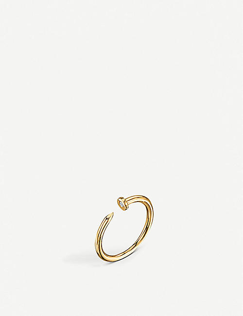 THE ALKEMISTRY Sydney Evan Nail 14ct yellow-gold and diamond ring