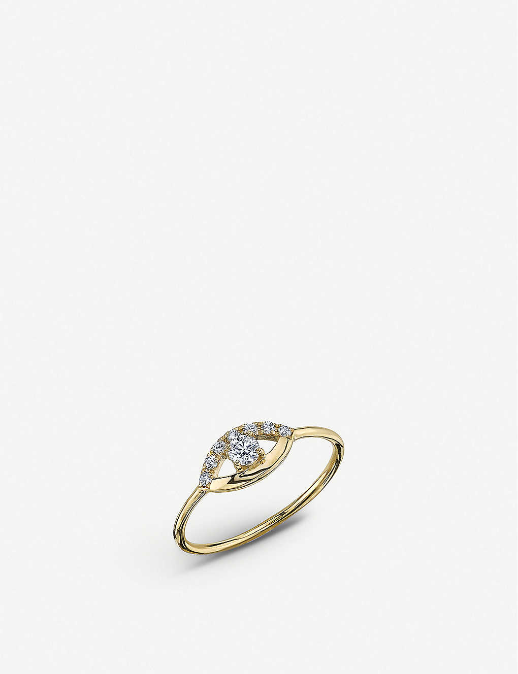 THE ALKEMISTRY: Sydney Evan Open Eye 14ct yellow gold and diamond ring