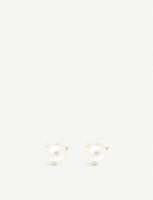 THE ALKEMISTRY Zoë Chicco 14ct yellow-gold and freshwater pearl stud earrings