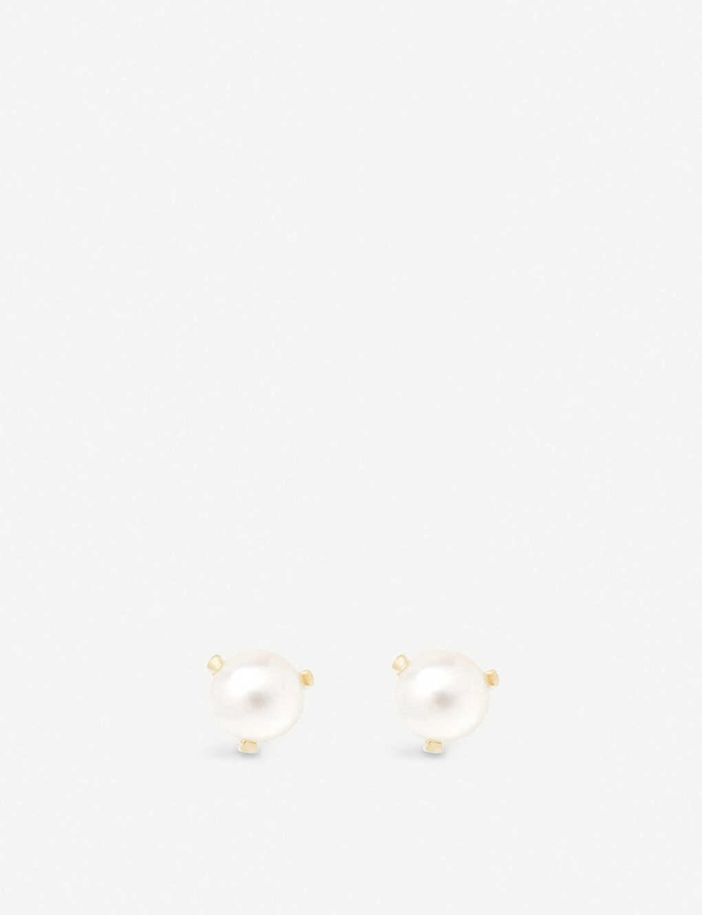 THE ALKEMISTRY: Zo? Chicco 14ct yellow-gold and freshwater pearl stud earrings