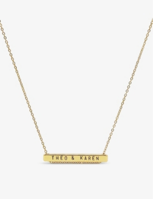 LITTLESMITH 13 characters gold-plated horizontal necklace