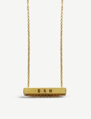 LITTLESMITH Gold-plated bar horizontal necklace
