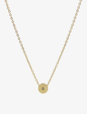 LITTLESMITH Initial gold-plated circle bead necklace