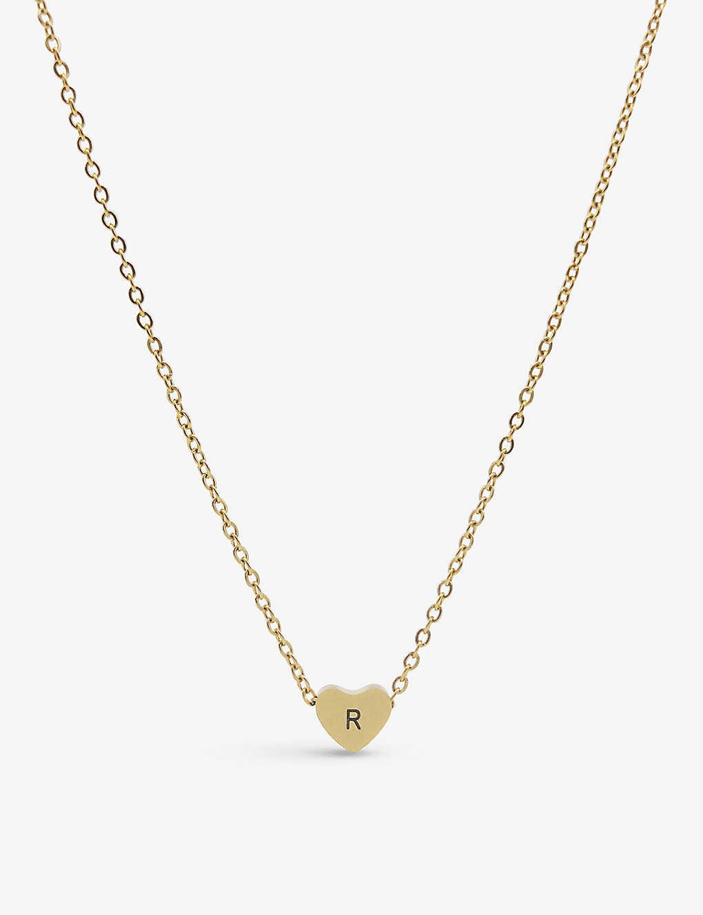 5e83f951b9d4dd LITTLESMITH - Silver-plated heart bead initial necklace | Selfridges.com