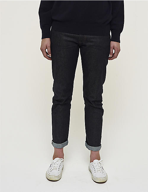 COMMUNITY CLOTHING Slim-fit stretch selvedge jeans