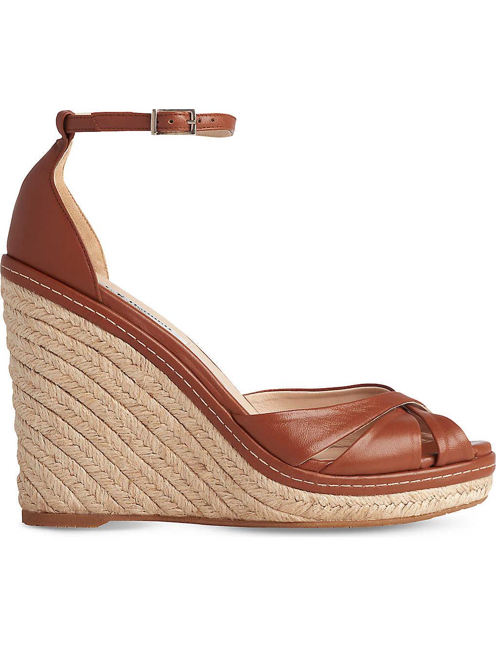 65b487642ef LK BENNETT - Litya denim wedge sandals