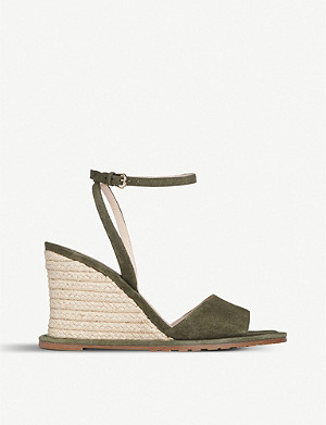 LK BENNETT Talitha suede wedge sandals