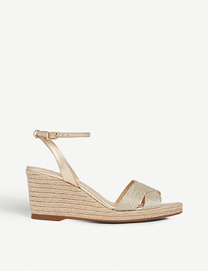 LK BENNETT Mabella metallic rope wedged sandals