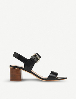 LK BENNETT Pelham block-heel leather sandals