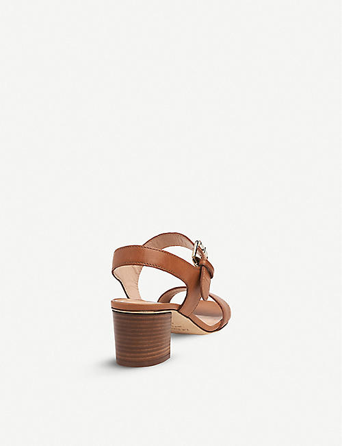 LK BENNETT Pelham block heel leather sandals