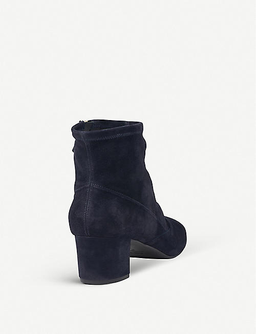 new concept 949e6 1449f LK BENNETT Alexis suede heeled ankle boots