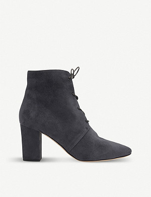 LK BENNETT Lira lace-up suede ankle boots
