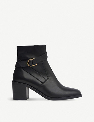 LK BENNETT Miran leather heeled ankle boots