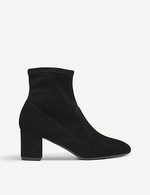 LK BENNETT: Alexis suede heeled ankle boots