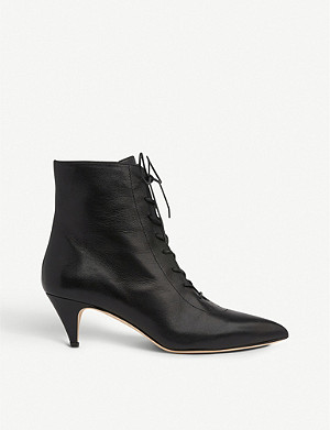 LK BENNETT Pasey lace-up leather ankle boots