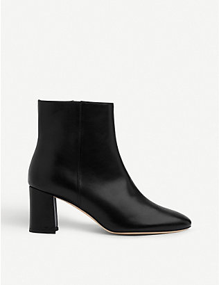 LK BENNETT: Jette leather heeled ankle boots
