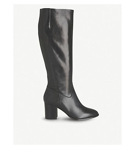 1c0cb296412 LK BENNETT Phoenix leather knee-high boots (Bla-black