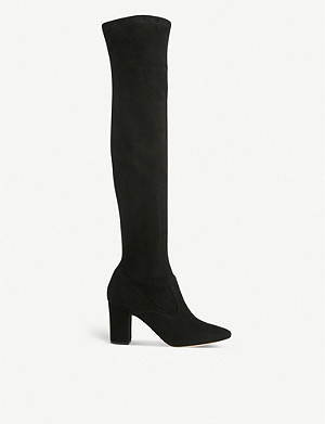 LK BENNETT Zira over-the-knee stretch-suede boots