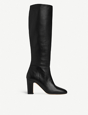 LK BENNETT Kristen leather knee-high boots
