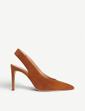 LK BENNETT Ilana suede slingback courts