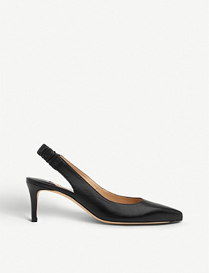 LK BENNETT Irena leather slingback courts